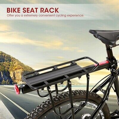 Bicycle Tailstock Bike Rear Seat Frame Carrier Luggage Rack Shelf Aluminum 25Kg