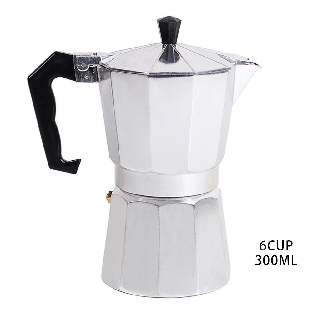 Edelstahl Italienischer Moka Espresso Kaffeemaschine Herdplatte Kanne 2 4 6 9