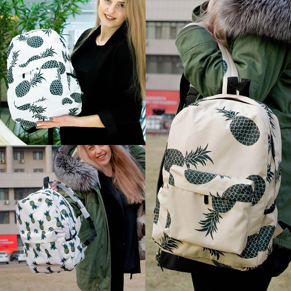 Backpack Pineapple Printing School Bags For Teenager Girls C