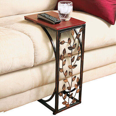 Leaf Design Sofa Side Table, by Collections Etc