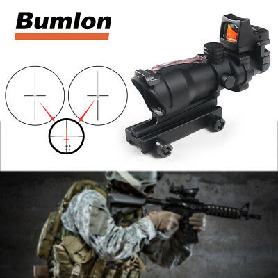 ACOG 4X32 Real Red Fiber Scope Ecos RMR Red Dot sight for Hunting Airsoft Rifle