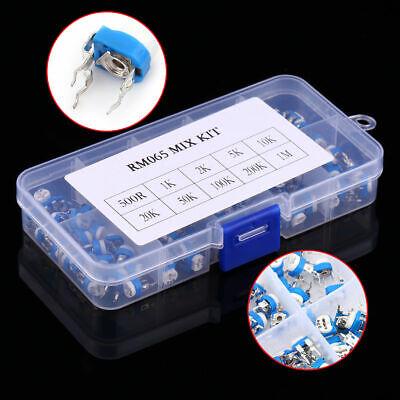 10 Value 100pcs Potentiometer Trimpot Variable Resistor Assortment Box Kit Rm065