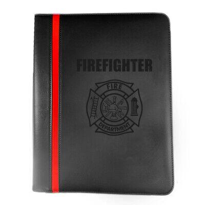 Firefighter Maltese Cross Fire Department Ranks Leatherette Padfolio More