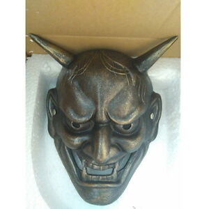 Japanese Buddhist Evil Oni Noh Hannya Mask $