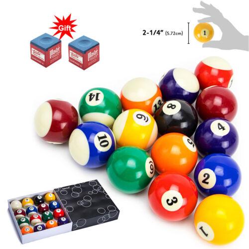 "Pool Table Billiard Balls Set 2 1/4"" Standard Size Deluxe Sports Pool Balls Set"