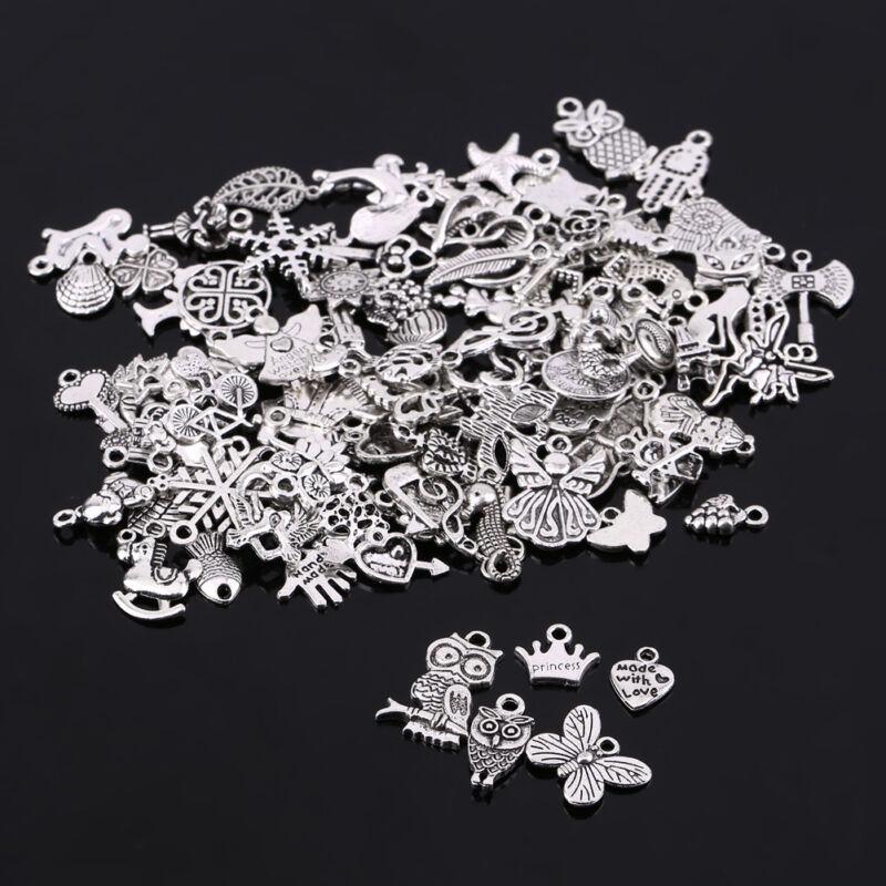 100PCS Bulk Lots Tibetan Silver Christmas Pendants Charms DIY Jewelry Finding US