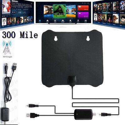 300 Mile Range Antenna TV Digital HD Skywire 4K Antena HDTV 1080p w/ Amplifier
