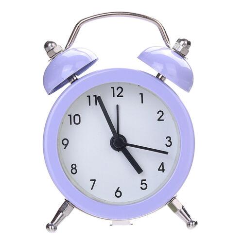 Mini Round Alarm Clock Table Desk Bedside Clocks Dial Number Clock Bedroom Decor