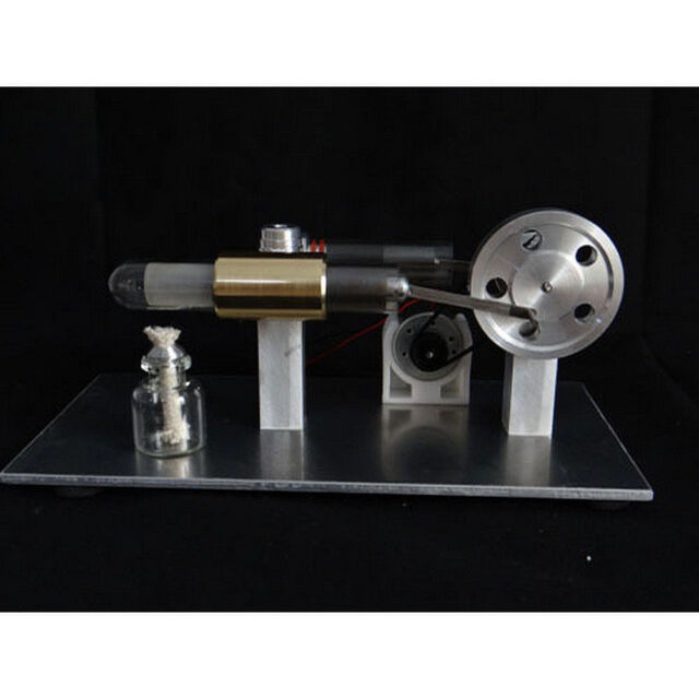 Air Stirling Engine Mini Generator Model Educational Toy Electricity #GH
