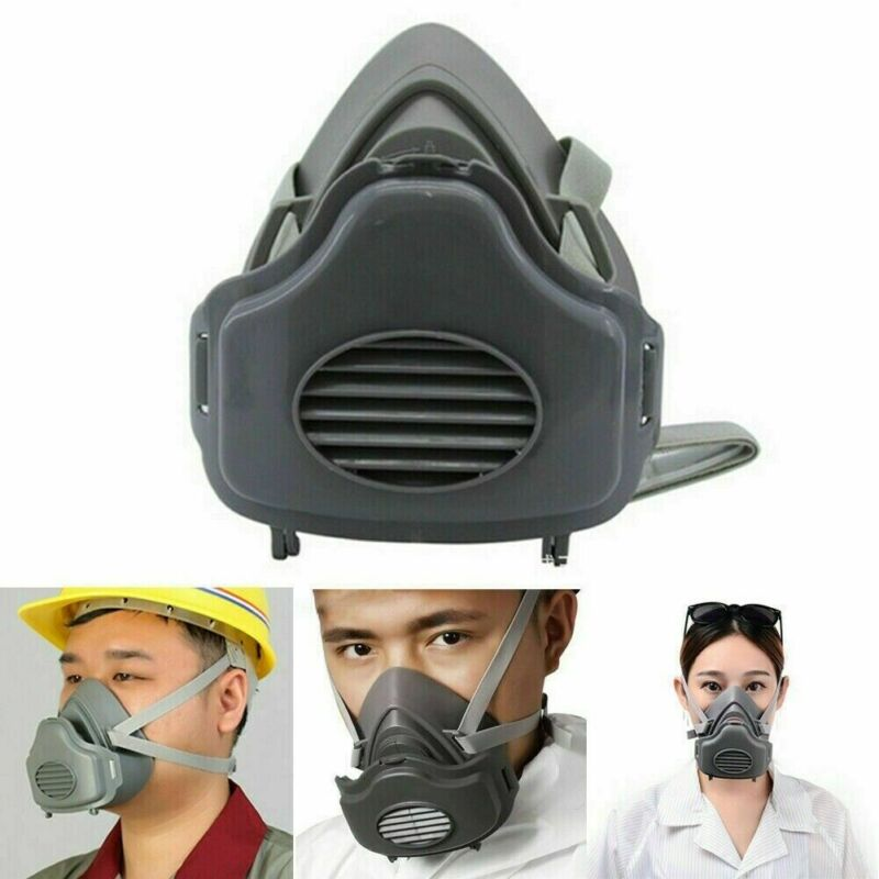 Safety Gas Mask Respirator Half Face Protect Painting Spraying Facepiece US