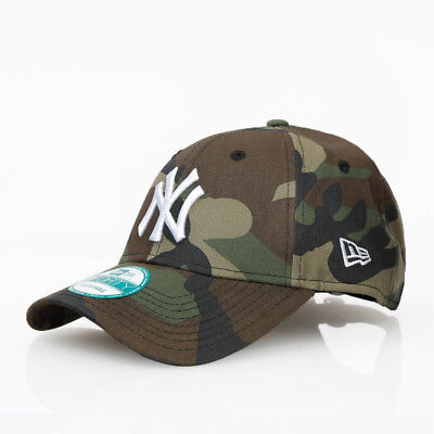 New Era 9forty NY Yankees Camo Adjustable Curve Peak Camouflage Hat Cap