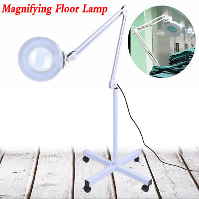 Magnifier Magnifying Clip Floor Stand Lamp Glass Salon SPA Beauty Diopter White