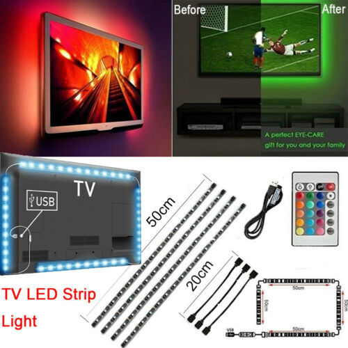 USB Powered 5V RGB LED Strip Light Remote Control For Bar TV