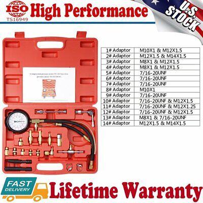 GAS Fuel Injection Gauge Pressure Tester Test Kit Car System Pump Tool Set Case