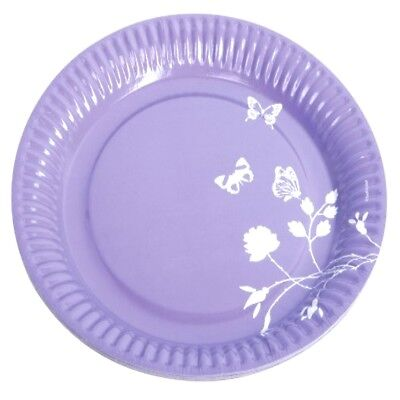Choose Amount - Butterfly Purple Birthday Party Table Paper Plates 23cm #551908