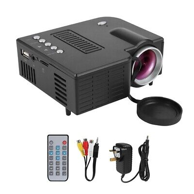 Portable HD 1080P LED Mini Projector Home Theater USB VGA HDMI AV with Speaker