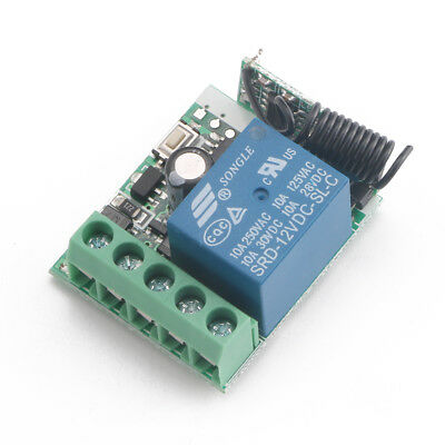 433 Mhz Single Channel Wireless Rf Remote Control Receiver Relay Switch Module B