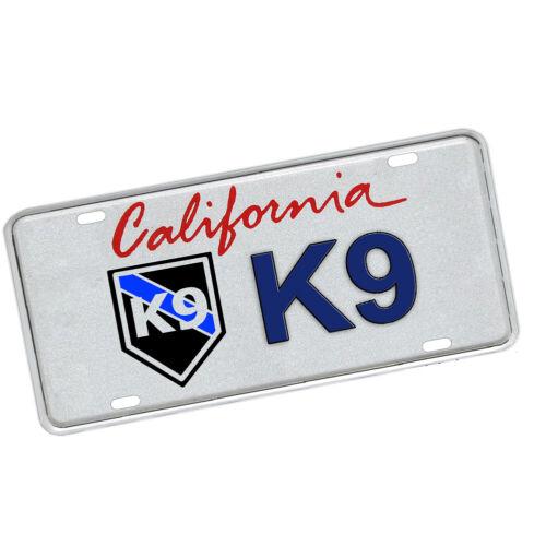 California Police Sheriff K9 Officer Law Enforcement Novelty License Plate