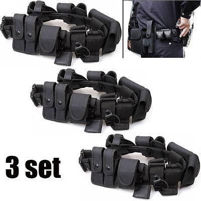 3x Police Security Guard Modular Enforcement Equipment Duty Belt Tactical Nylon