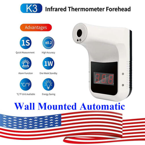 US Wall Mounted Automatic Digital Infrared Non-Contact Forehead Thermometer