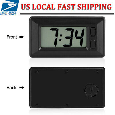 Mini LCD Digital Snooze Alarm Clock Table Car Dashboard Desk Date Time Display
