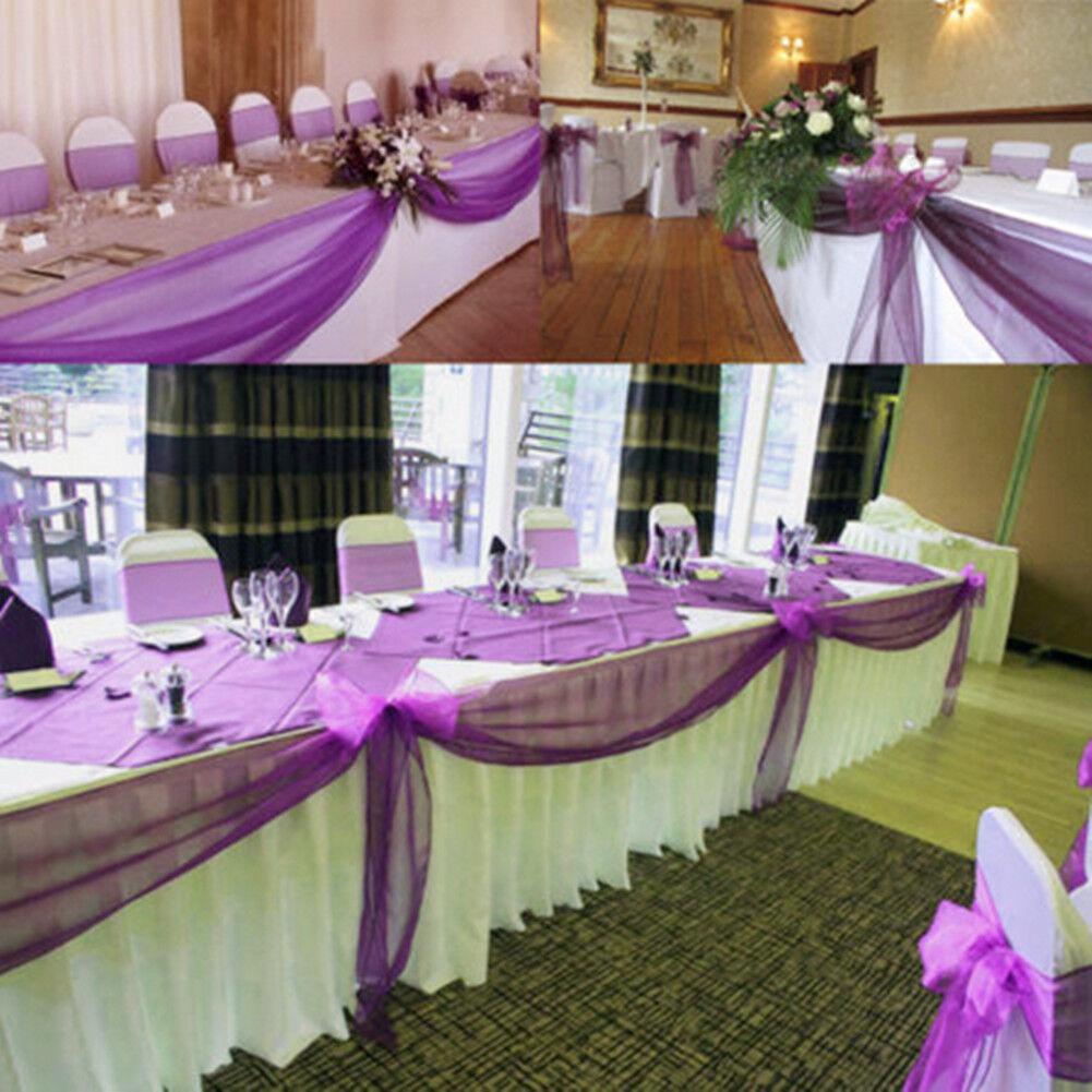 5m 10m Decken Tisch Stuhl Dekoration Blo Es Fabric Organza Hochzeitsfest Eur 4 29 Picclick De