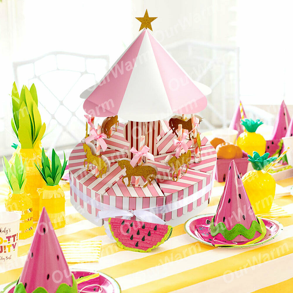 Carousel Candy Gift Boxes Wedding Kids Birthday Party Favor Baby ...
