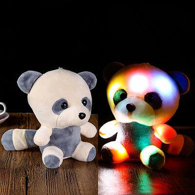 (Stuffed Animal Panda Doll Hug Colorful LED Flash Light Plush Toy Kids Gift Panda)