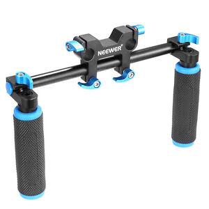 Neewer Doppelhebel Handgriff fur 15mm DSLR Rig rod Schienen-Stange Anlage