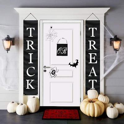 3pcs Trick Or Treat Halloween Banner for Home Indoor/Outdoor Halloween Decoratio