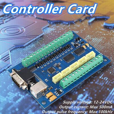 Mach3 5axis Usb Card 100khz Cnc Stepper Motor Driver Motion Controller Board New