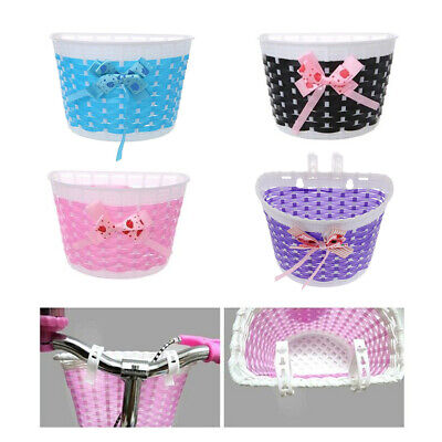 Plastic Kids Bicycle Front Basket Bike Cycle Shopping Holder for Children Girl