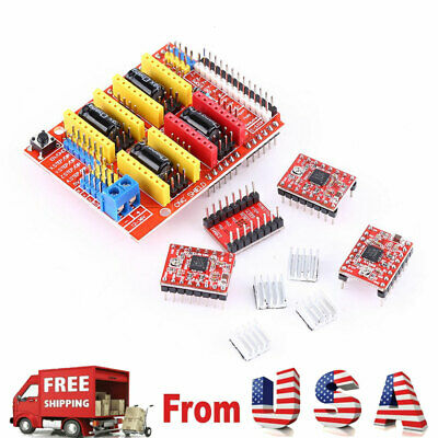 Cnc Shield V3 Expansion Board 4pcs A4988 Stepper Motor Driver For Engraver New