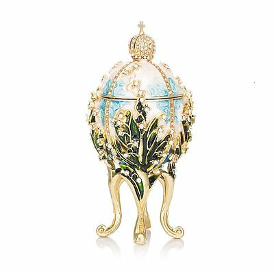 QIFU New Arrive Hand Painted Faberge Egg Style Decorative Jewelry Trinket Box