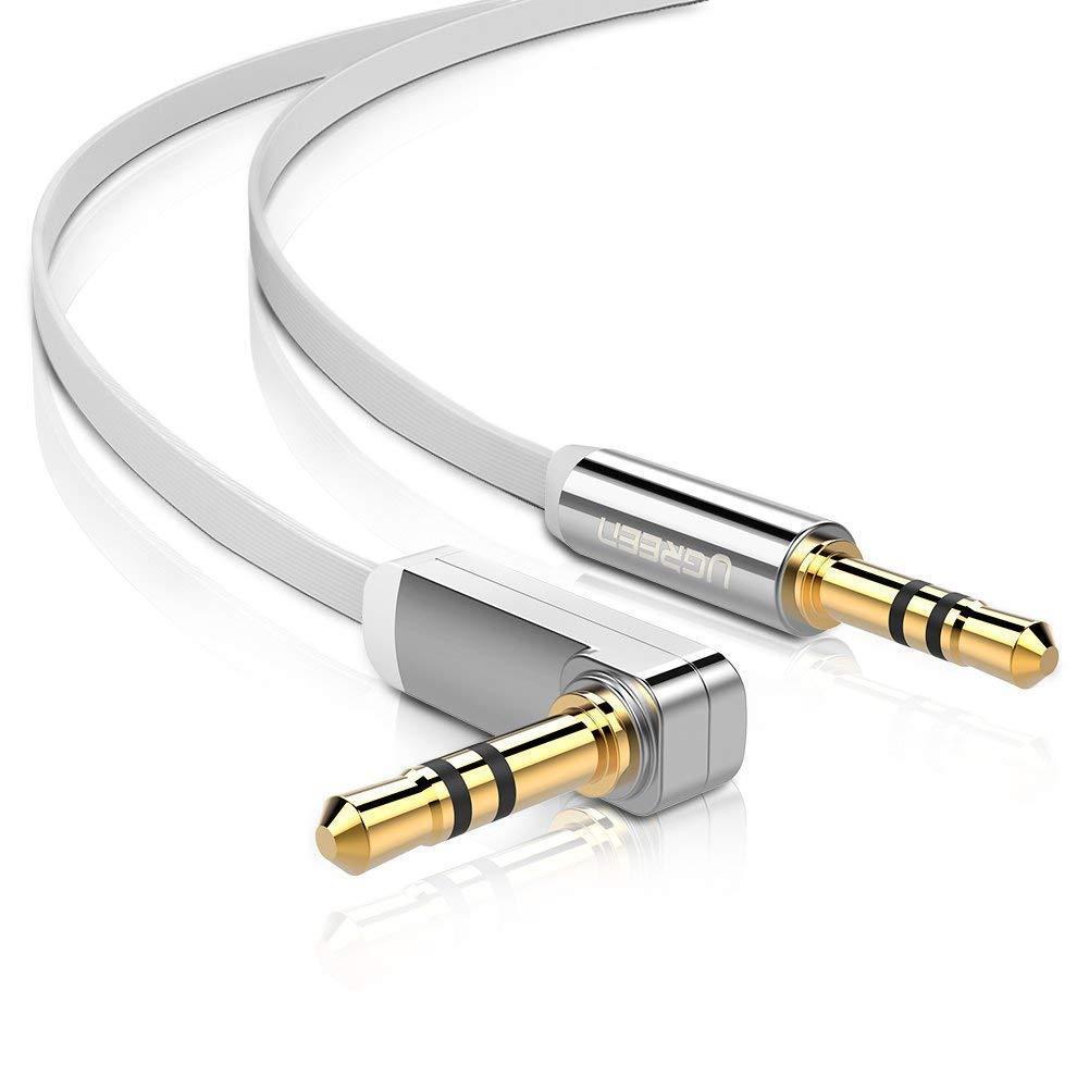 UGREEN Audio Kabel Aux Kabel 90 gewinkelt 3,5mm klinkenkabel Klinkenstecker 1 M
