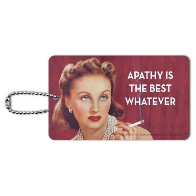 Apathy is the Best Whatever Funny Humor Luggage Card Suitcase Carry-On ID