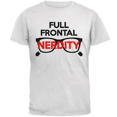 Halloween Nerd Costume Full Frontal Nudity Nerdity Pun Mens T Shirt](Halloween Pun Costume)