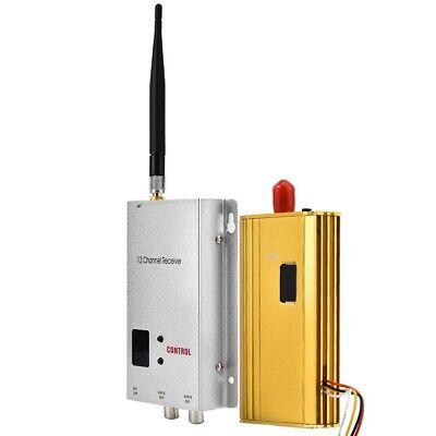 Wireless Audio Video Transceiver 1.2G 1.5W CCTV Monitoring Transmitter &