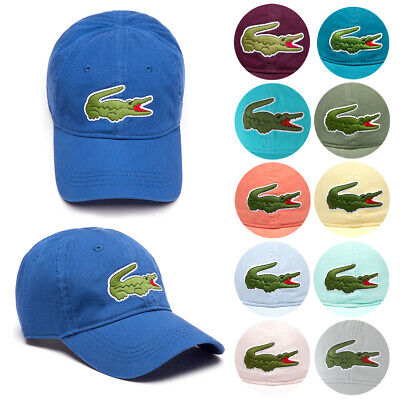 Lacoste Men's Cotton Embroidered Big Croc Logo Adjustable Hat Cap Clothing, Shoes & Accessories