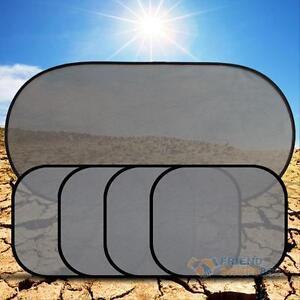 5 Car Side Rear Window Auto Sun Shade Visor Shield Mesh Screen Baby Sunscreen