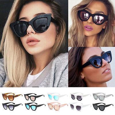Fashion Cat Eye Sunglasses Womens Retro Vintage Shades Oversized Designer Large (Retro Cat Eye)