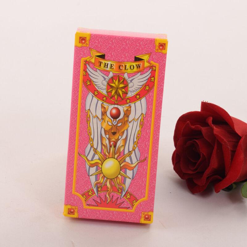 Cute Pink Sakura Card Tarot Cards Deck 56 Cards Set Anime Cardcaptor Sakura