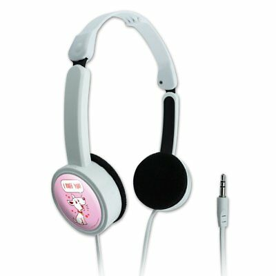 I Ruff Love You Dog Funny Humor Travel Portable On-Ear Foldable Headphones