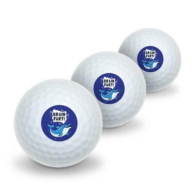 Brain Fart Dolphin Funny Humor Novelty Golf Balls 3 Pack - Brain Balls
