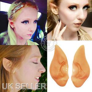 UK Fairy Elf Vulcan Alien Spock Hobbit Pixie Ears Tips Halloween Fancy Cosplay