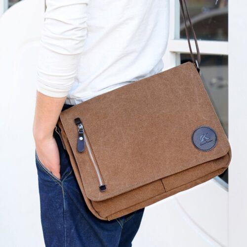 Casual Men's Canvas Shoulder Bag Boy Messenger Bag for Busin