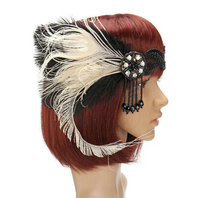 Great Gatsby Headpiece Feather Tassel  Flapper Vintage Hair Headbands Accessory](Flapper Headbands)
