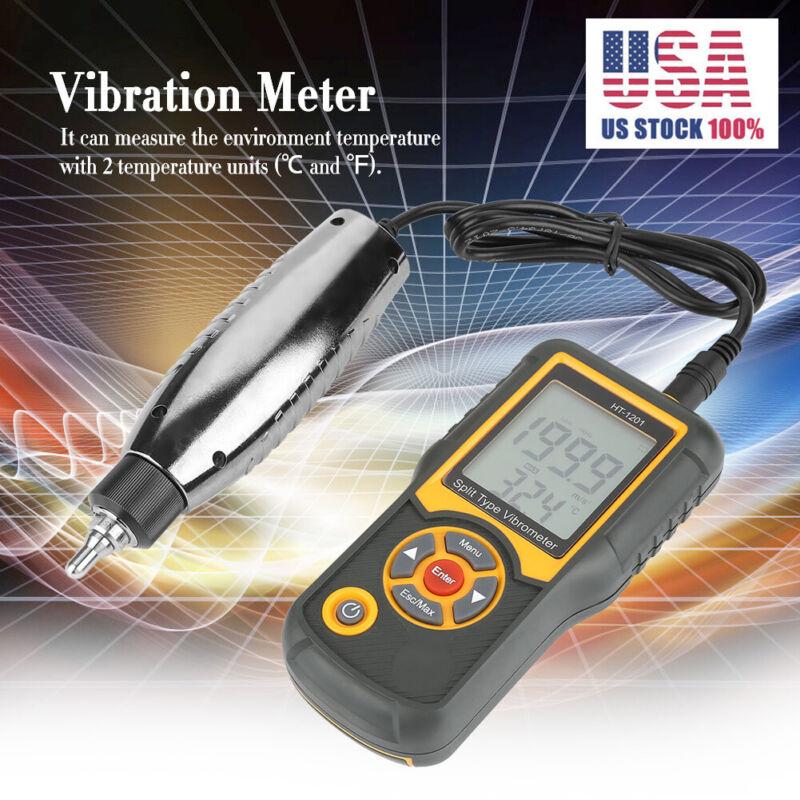 HT-1201 Split Type Digital Precision Vibration Meter Tester Sensor Gauge