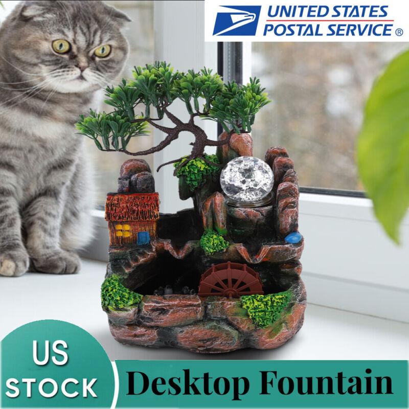 Atomizing Landscape Rockery Water Fountain Desktop Home Table Decoration