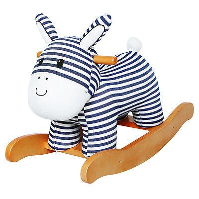 Kinder Plüsch Schaukelpferd Schaukeltier Schaukel gestreifte Esel Spielzeug NEU~